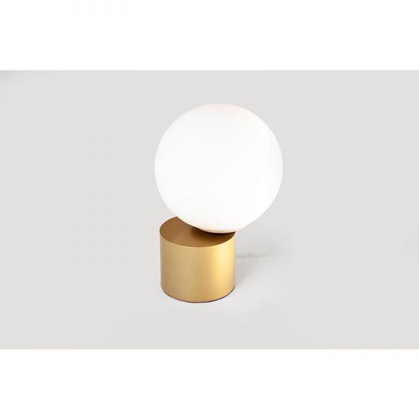מנורת שולחן – שילוב זכוכית